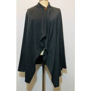 Bobeau Dark Gray Single Button OpenFront Cardigan
